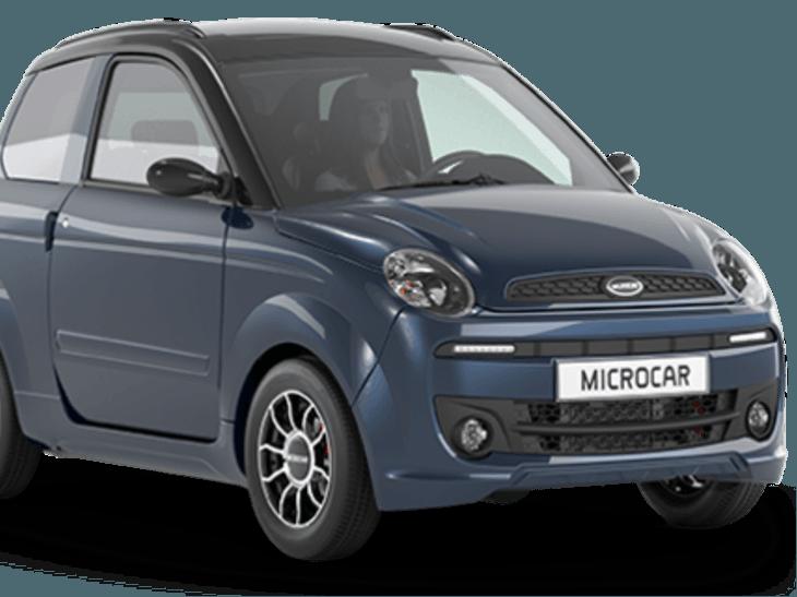 Microcar M.Go Premium in het blauw